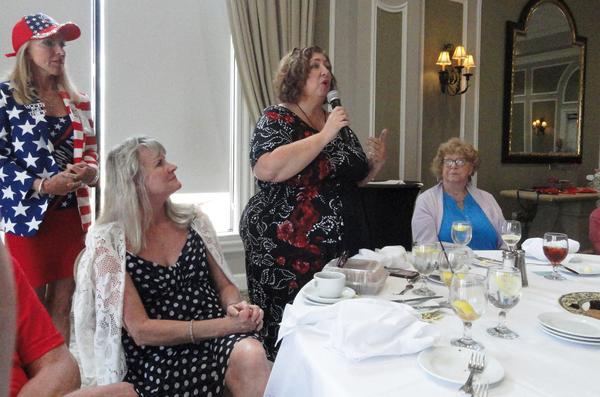 Chrissy Blevio of Bradenton speaks at the event