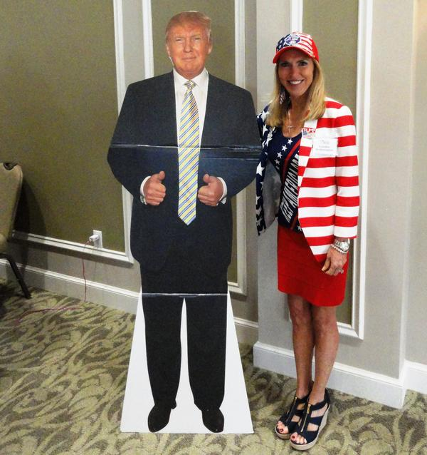Caroline Wetherington and her favorite candidate