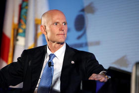 Senator Rick Scott is under self-quarantine after an interaction he had Monday in Miami.