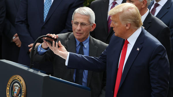 President Trump and Dr. Anthony Fauci answered questions about coronavirus response in a Rose Garden news conference on Friday.
