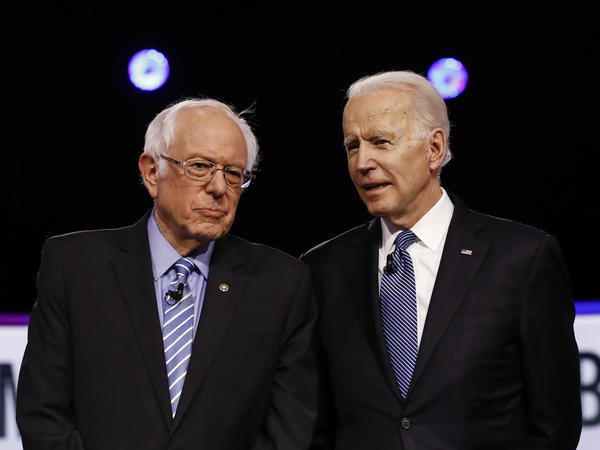 Sen. Bernie Sanders and former Vice President Joe Biden will be the only candidates onstage for Sunday's Democratic presidential debate.