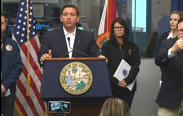 Gov. DeSantis gives an update on the COVID-19 outbreak in Tallahassee Sunday night
