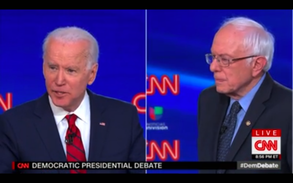 On Sunday, March 15, 2020, Sen. Bernie Sanders (I-Vt.) and Former Vice President Joe Biden were face to face alone on the debate stage.