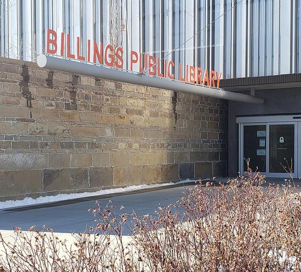 A photo of Billings Public Library taken on Mar. 16, 2020.