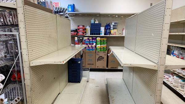 Market shelves have been emptying of toilet paper as consumers seek to stock up for social distancing. But police in Newport, Ore., reminded residents that running out of toilet paper is not, in fact, an emergency worthy of dialing 911.