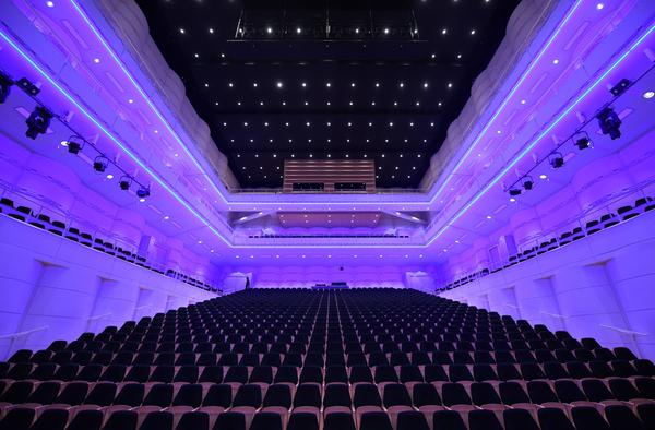 An interior view taken on March 12, 2020 shows empty seats at the concert house in Dortmund, western Germany, where public events were cancelled in a measure to fight the spread of the novel coronavirus. (Ina Fassbender/AFP via Getty Images)