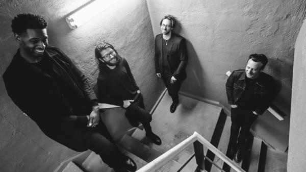 Little Big. From left: David 'DJ' Ginyard (bass), Tommy Crane (drums), Aaron Parks (piano) and Greg Tuohey (guitar). The band will release its second studio album, <em>Little Big II: Dreams of a Mechanical Man,</em> on May 8.