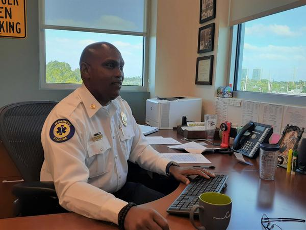City of Fort Myers Fire Department Fire Chief Tracy McMillion.