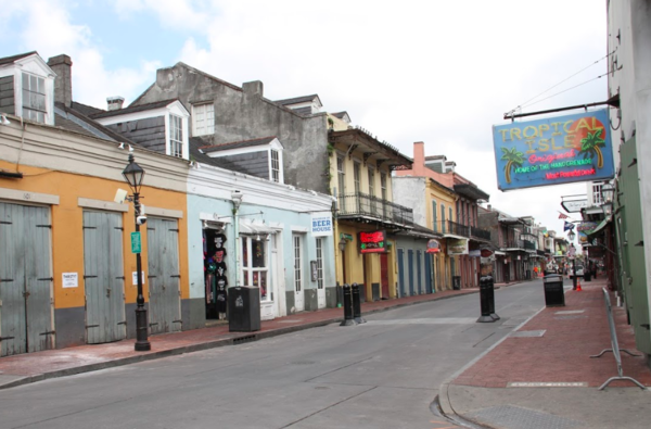 All quiet on Bourbon Street while New Orleans remain closed in an effort to stop the spread of coronavirus. March 19, 2020.