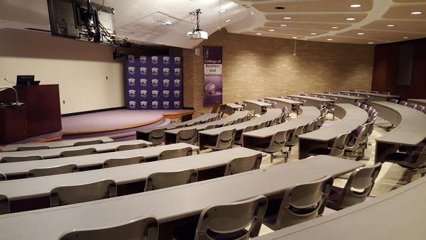 This lecture hall at WIU is normally filled with students this time of the year.