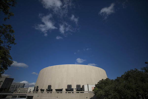 Longhorn basketball games would normally be played at rhe Frank Erwin Center on the University of Texas campus in Austin.