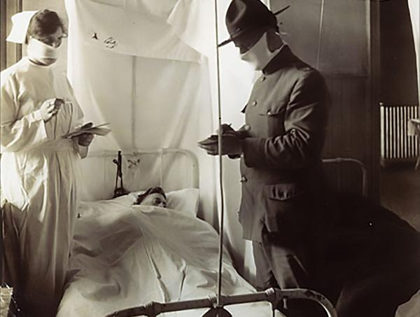 During the 1918-19 pandemic more soldiers died from flu and pneumonia than combat.