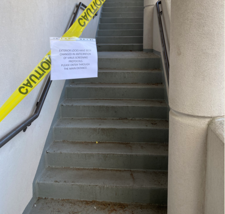 At Western State Hospital, entrances have been blocked off and locks changed to prevent employees from entering without being screened first for coronavirus symptoms.