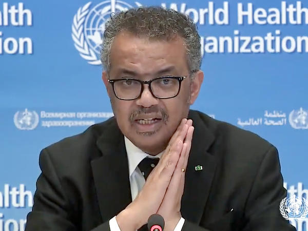 """To win, we need to attack the virus with aggressive and targeted tactics,"" World Health Organization head Tedros Adhanom Ghebreyesus says of the COVID-19 respiratory disease, which is now in nearly every country in the world."