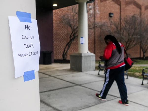 Polling stations were shut down in Columbus, Ohio on March 17. Hours before polls were set to open, Gov. Mike DeWine called off in-person voting due to the coronavirus outbreak and is attempting to reschedule the election for June.