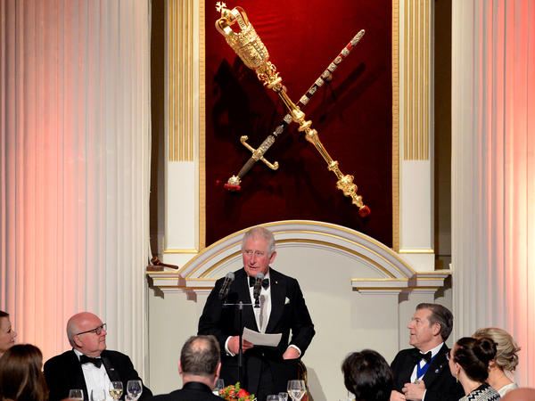 Prince Charles has tested positive for the coronavirus and is showing mild symptoms. The heir to the British throne is seen here speaking at a large event on March 12, when he attended a dinner at Mansion House in London.