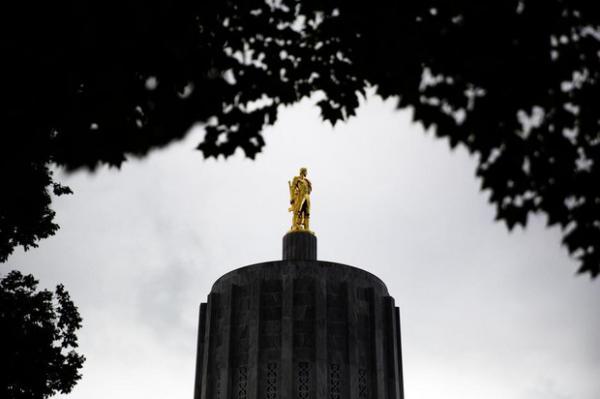 <p>The Oregon Capitol in Salem, Ore., Thursday, Sept. 26, 2019.</p>