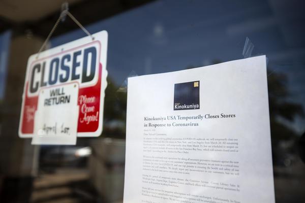 Kinokuniya Austin is closed during the coronavirus pandemic.