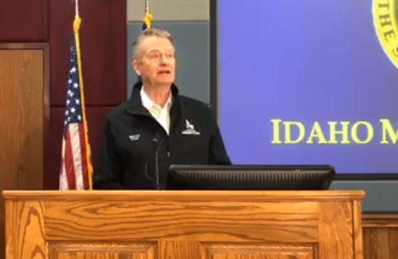 Idaho Gov. Brad Little announced the 21-day statewide 'stay-at-home' order on Wednesday, March 25.