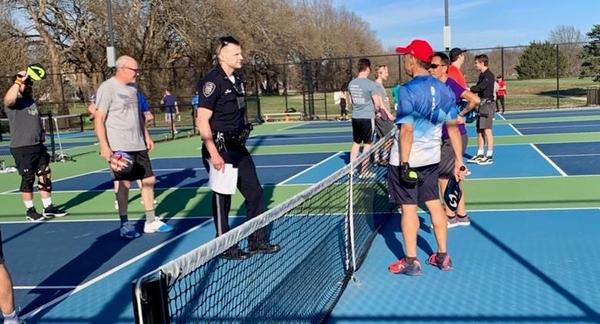 The encounter between police and pickleball players was amicable.