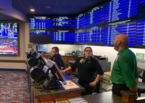 Tribal casinos in Washington may soon feature legal sportsbooks like this pioneering one at the Chinook Winds Casino in Lincoln City, Oregon.