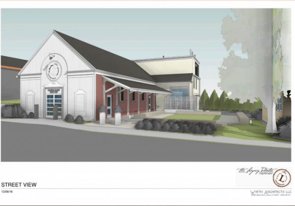 An artistic rendering of the Legacy Theatre in Branford, Conn.