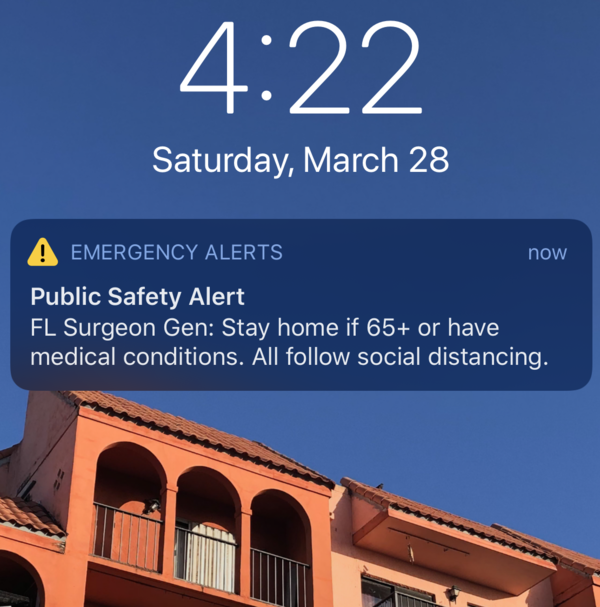 Here is the emergency alert text message the state sent to Floridians Saturday afternoon.