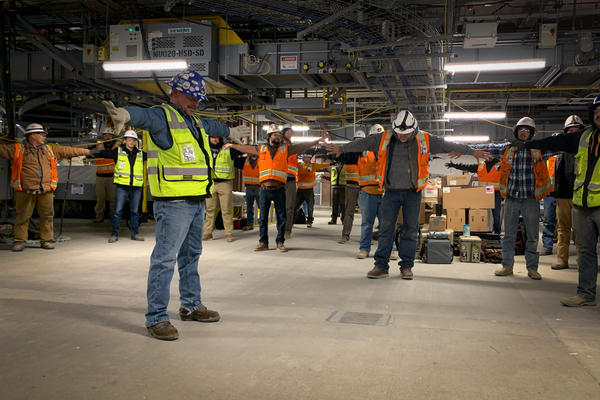 RK, a construction company, has made mental health a part of its regular toolbox talks, in which employees hear from managers and get a chance to stretch.