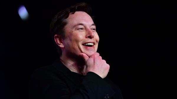 Tesla CEO Elon Musk speaks during the unveiling of the Tesla Model Y in Hawthorne, Calif., on March 14, 2019.