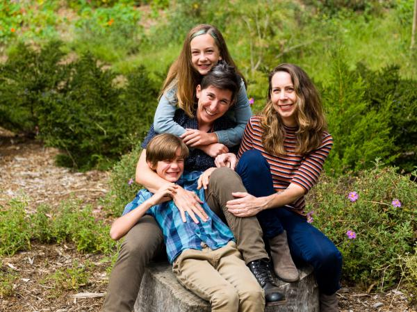 Candace Palmerlee (right), with her wife Toddy Fineberg and their kids Ellery and Cyrus Brownlee.