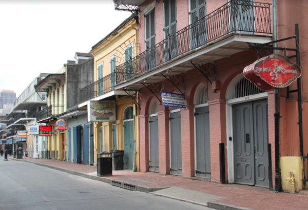 The French Quarter sits empty during citywide shutdowns in response to coronavirus. March 19, 2020.