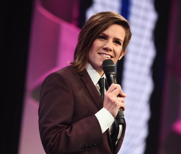 Cameron Esposito speaks at the GLAAD Media Awards on April 1, 2017 in Beverly Hills, Calif.