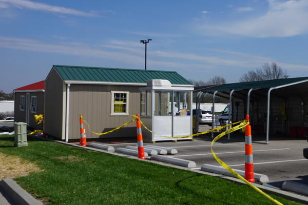 The drive-thru triage area at Phelps Health Medical Center in Rolla is part of the hospital's preperation to handle increased patients becaue of coronavirus.