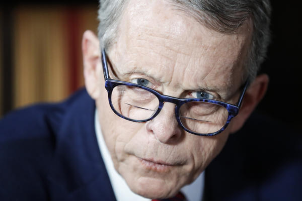 Gov. Mike DeWine inside the Governor's Residence in Columbus on Dec. 13, 2019.