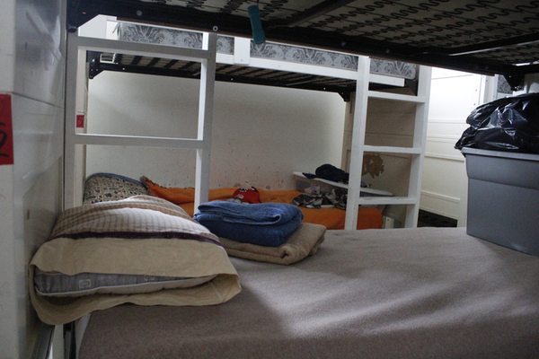 Bunks at City Light Home for Women and Children in Boise, Idaho.