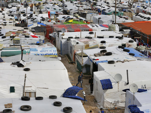 A Syrian refugee camp in the town of Bar Elias, in the Bekaa Valley, Lebanon, in January 2019. Now, people fleeing war and calamity have an added worry with the coronavirus pandemic.