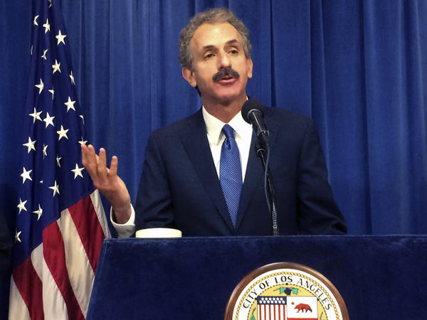 Los Angeles City Attorney Mike Feuer, seen here in 2017, says his office has reached a settlement with a company that had been selling at-home tests for the coronavirus. The Food and Drug Administration says it has not authorized any at-home tests.