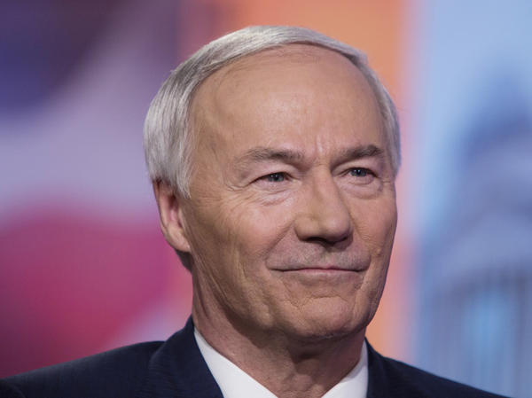 Arkansas Gov. Asa Hutchinson, seen in May 2019, has not issued a statewide stay-at-home order in response to the coronavirus.