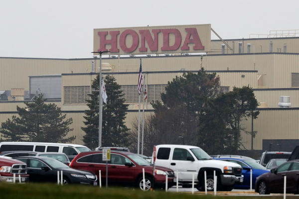 A Honda plant in Marysville, Ohio, was still operating in mid-March, but has since been shut down because of the coronavirus pandemic.