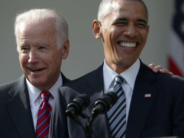 "Former President Barack Obama said of former Vice President Joe Biden: ""Choosing Joe to be my vice president was one of the best decisions I ever made, and he became a close friend."""