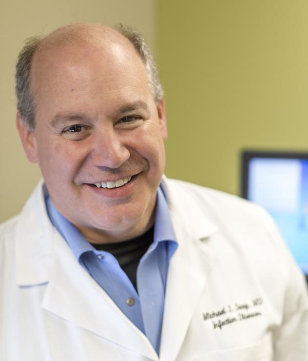 Dr. Michael Saag, seen at his clinic at the University of Alabama, Birmingham.