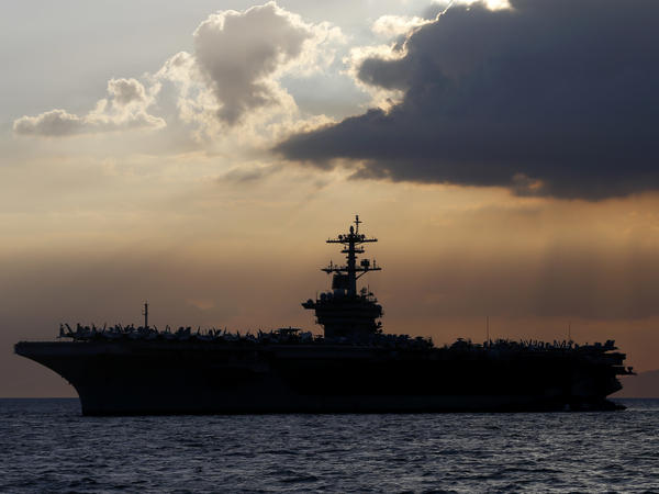 A sailor on the USS Theodore Roosevelt has died from COVID-19 complications, the Navy said Monday. Nearly 600 members of the ship's crew have tested positive for the coronavirus.