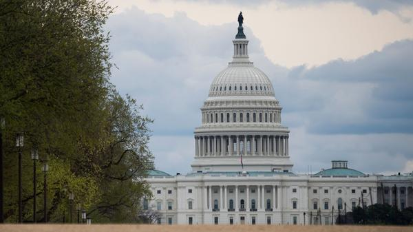 The U.S. Capitol is seen on March 31. Lobbyists are competing for funds in coronavirus financial aid.