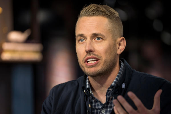 Joel Flory, co-founder and chief executive officer of Visual Supply Co. (VSCO), speaks during a Bloomberg Technology television interview in December 2019. On Tuesday, Flory announced VSCO is laying off a third of its staff because of the coronavirus-fueled economic downturn.
