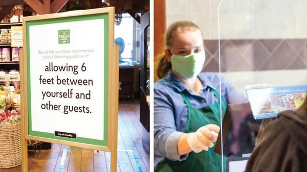 Facemasks are becoming mandatory at The Fresh Market.