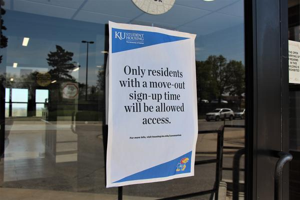 Student dorms across Kansas, including at the University of Kansas in Lawrence, have emptied out. Students' classes have been fully online for weeks.