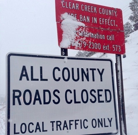 Clear Creek county, Colo., has closed county roads to non-residents, with up to $5,000 in fines and jail time for violators.