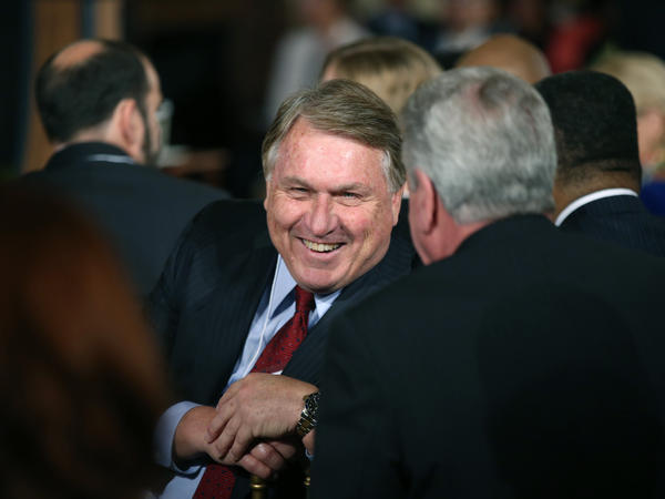 International Brotherhood of Teamsters President James P. Hoffa is seen in the East Room of the White House in 2015.