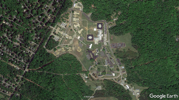 A satellite view of the Bon Air facility near Richmond, Va.