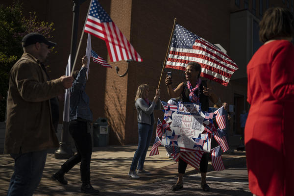 """Many protesters at a """"Reopen Missouri"""" rally in Clayton on Tuesday categorized the lockdown as a violation of individual freedom."""
